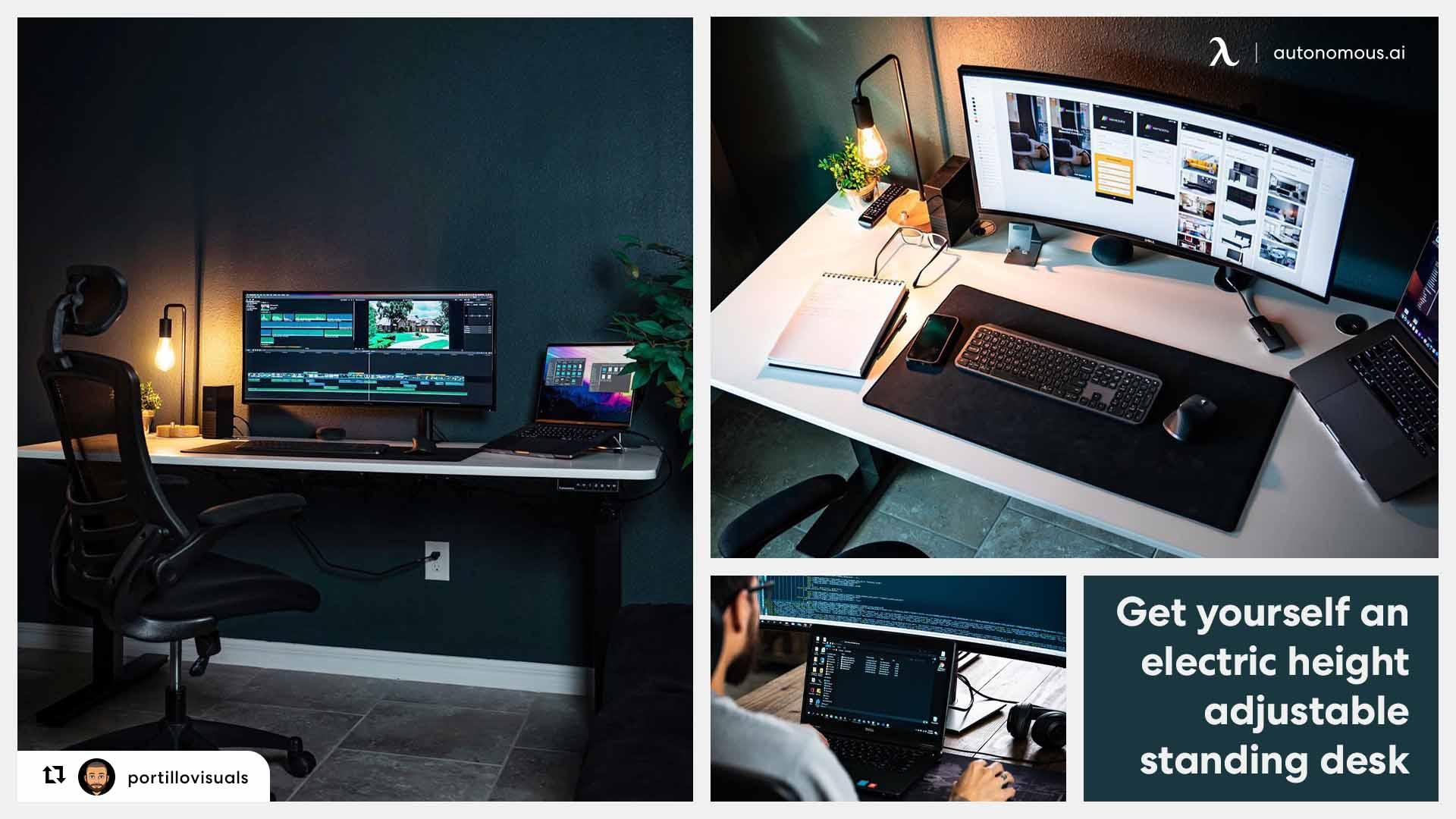 Home trading desk setup: Get yourself an adjustable desk