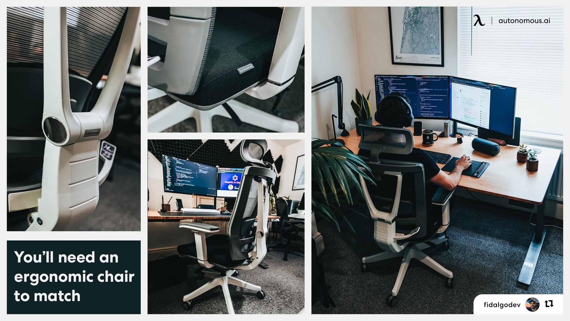 an ergonomic chair to match trading setup