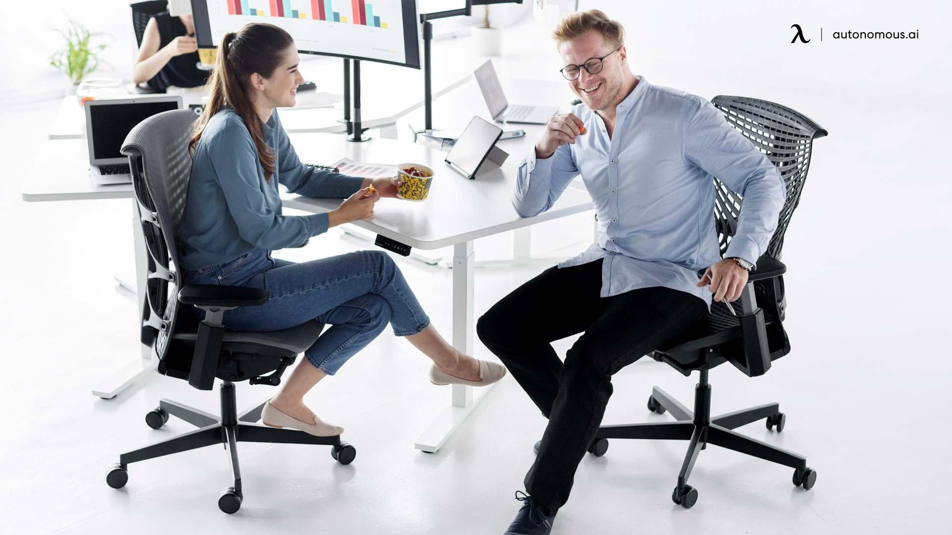 Apply good sitting postures