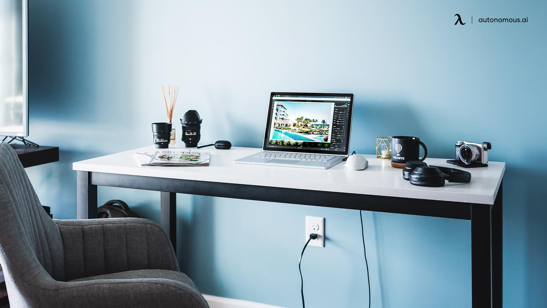 Photo of a dedicated workspace