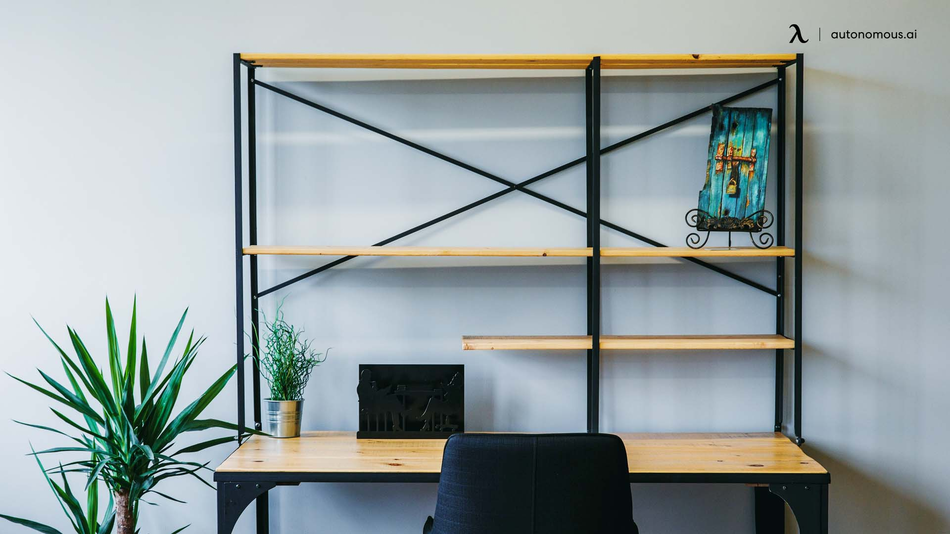 Photo of Wire Frame Desk and Shelving