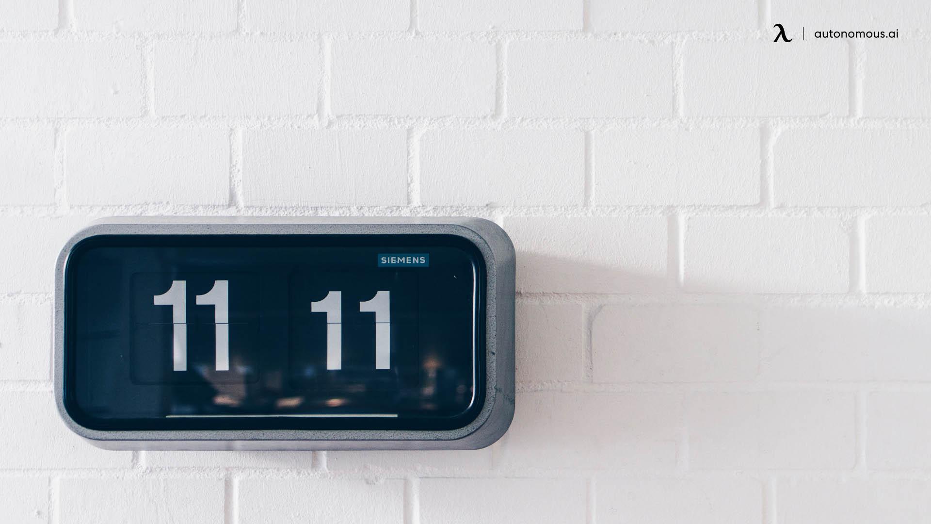 Get a digital clock
