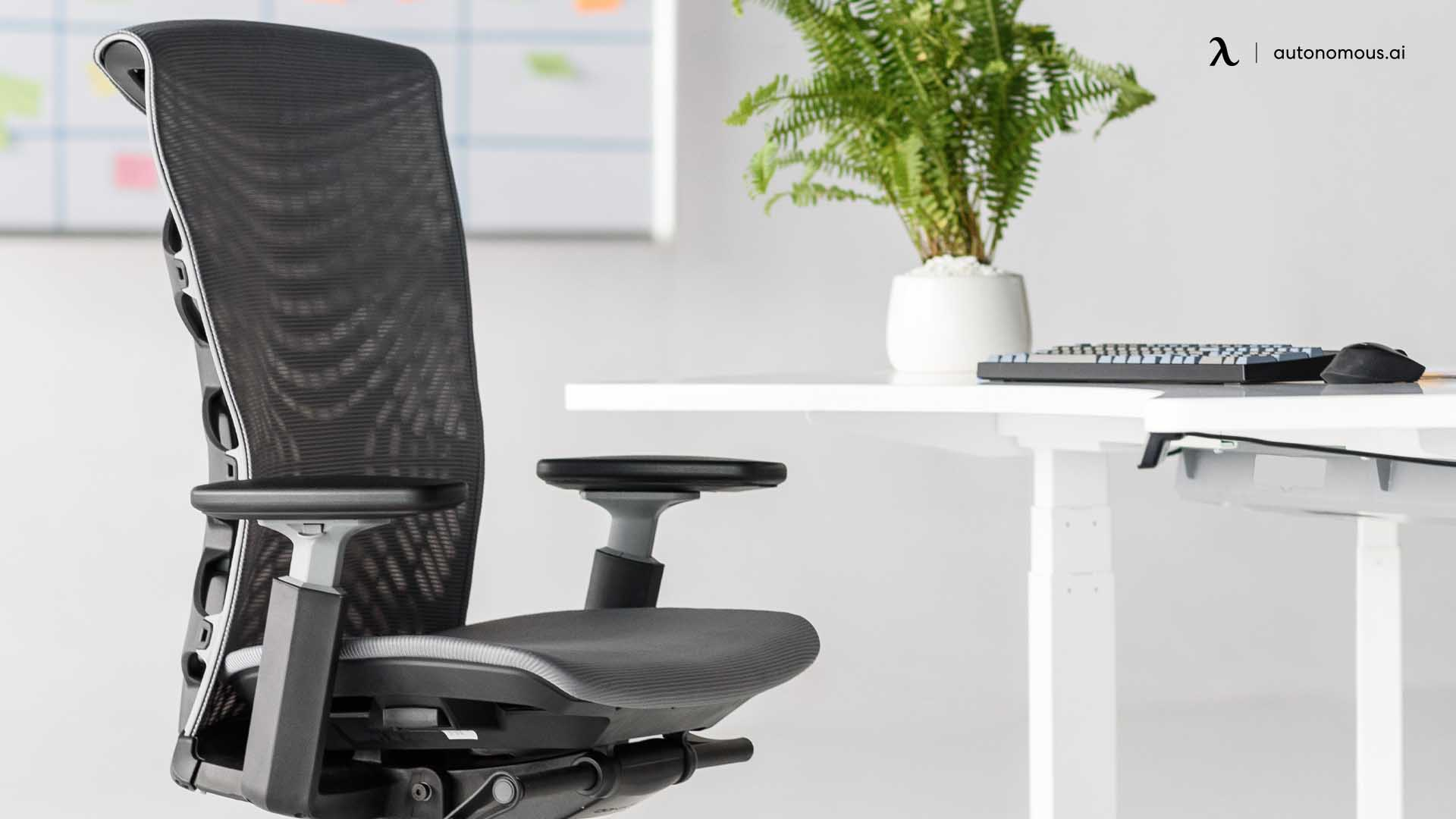 Comfortable ergonomic chair with desk height