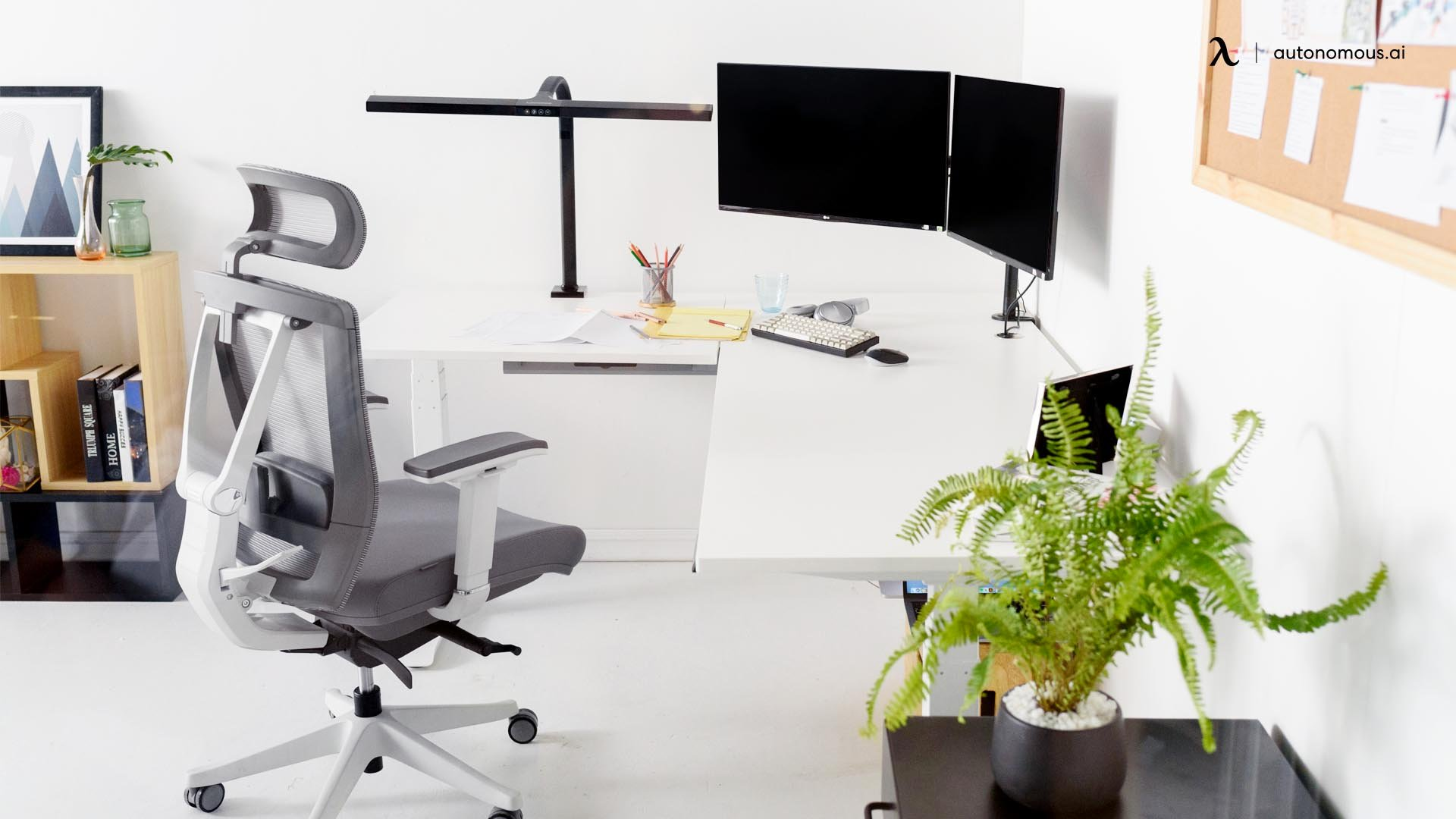 Save space with a corner desk