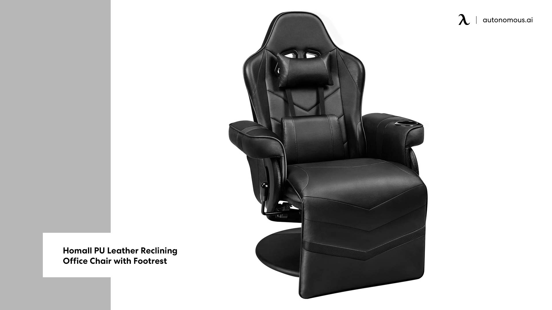 Photo of Homall PU Leather Reclining Office Chair with Footrest