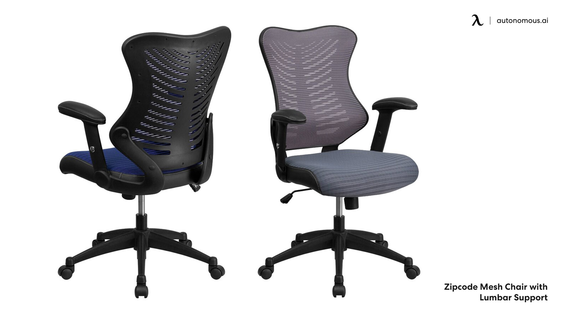 Mesh chair with lumbar support