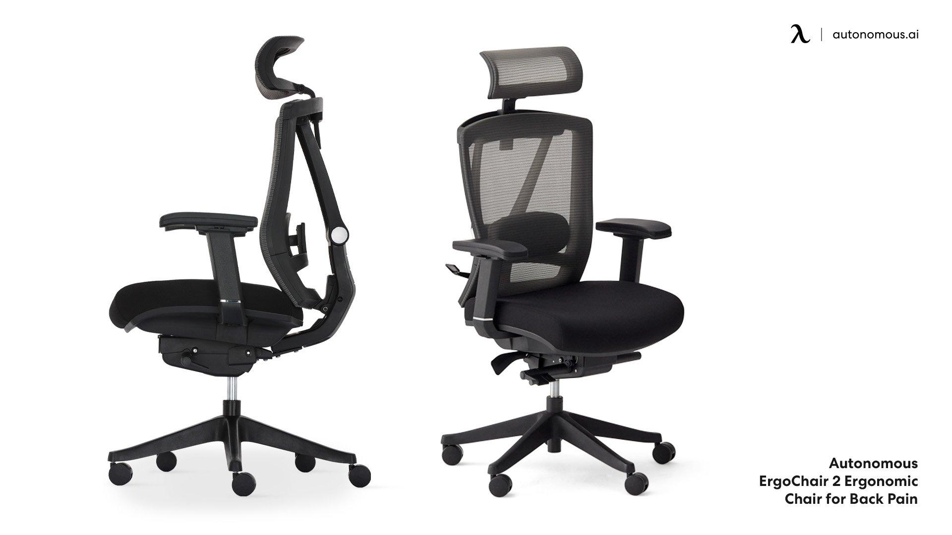 Ergonomic chair for back pain