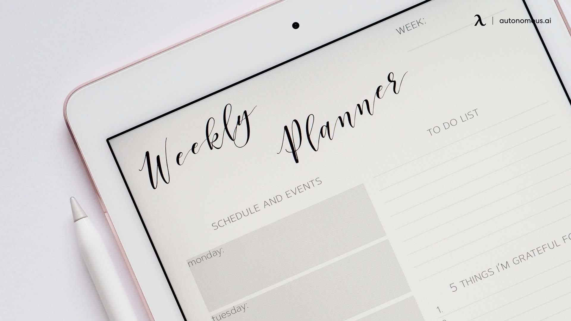 Plan your tasks