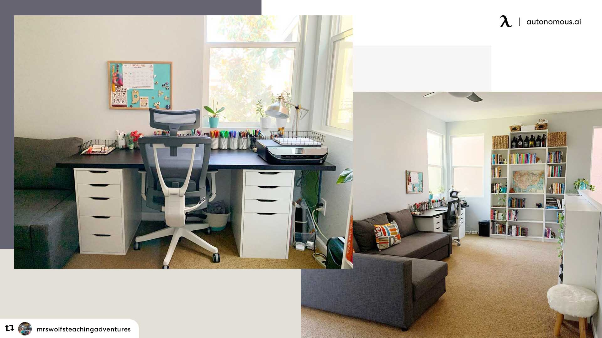 Teacher's home office
