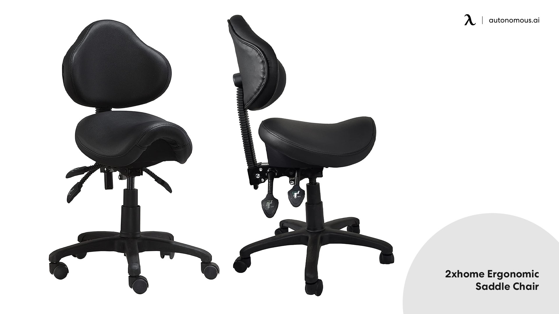 2xhome Ergonomic Saddle Chair