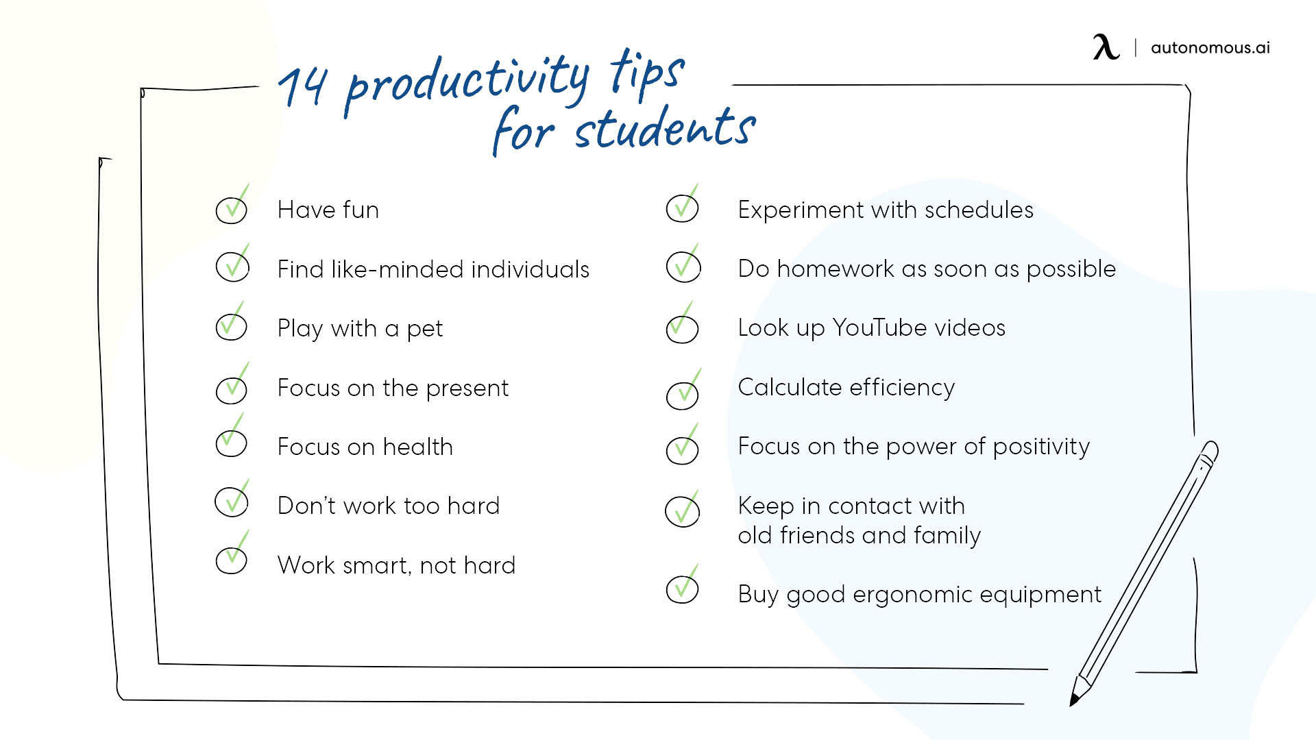 14 productivity tips for students