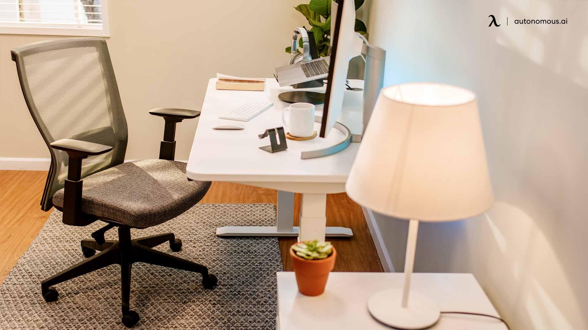 Get a good ergonomic work desk