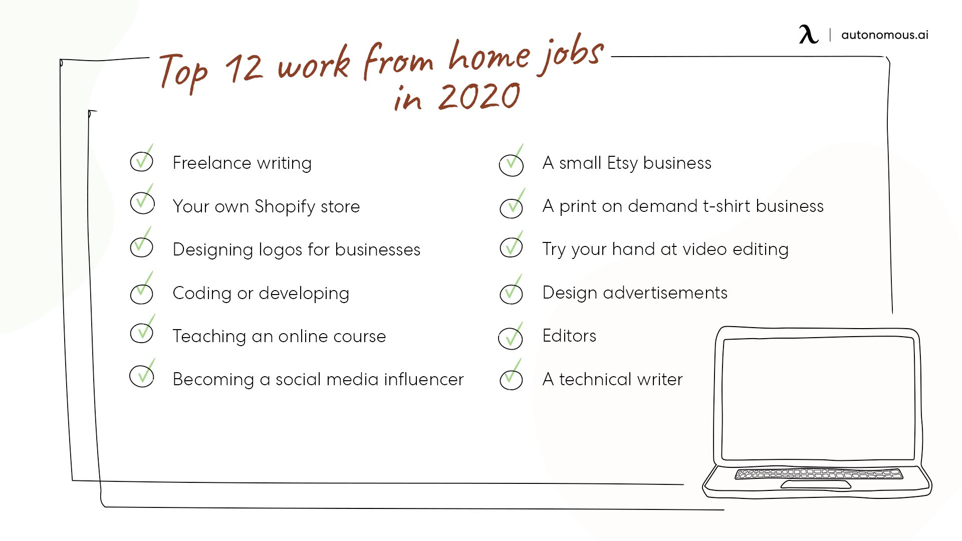 Work from home jobs in 2020