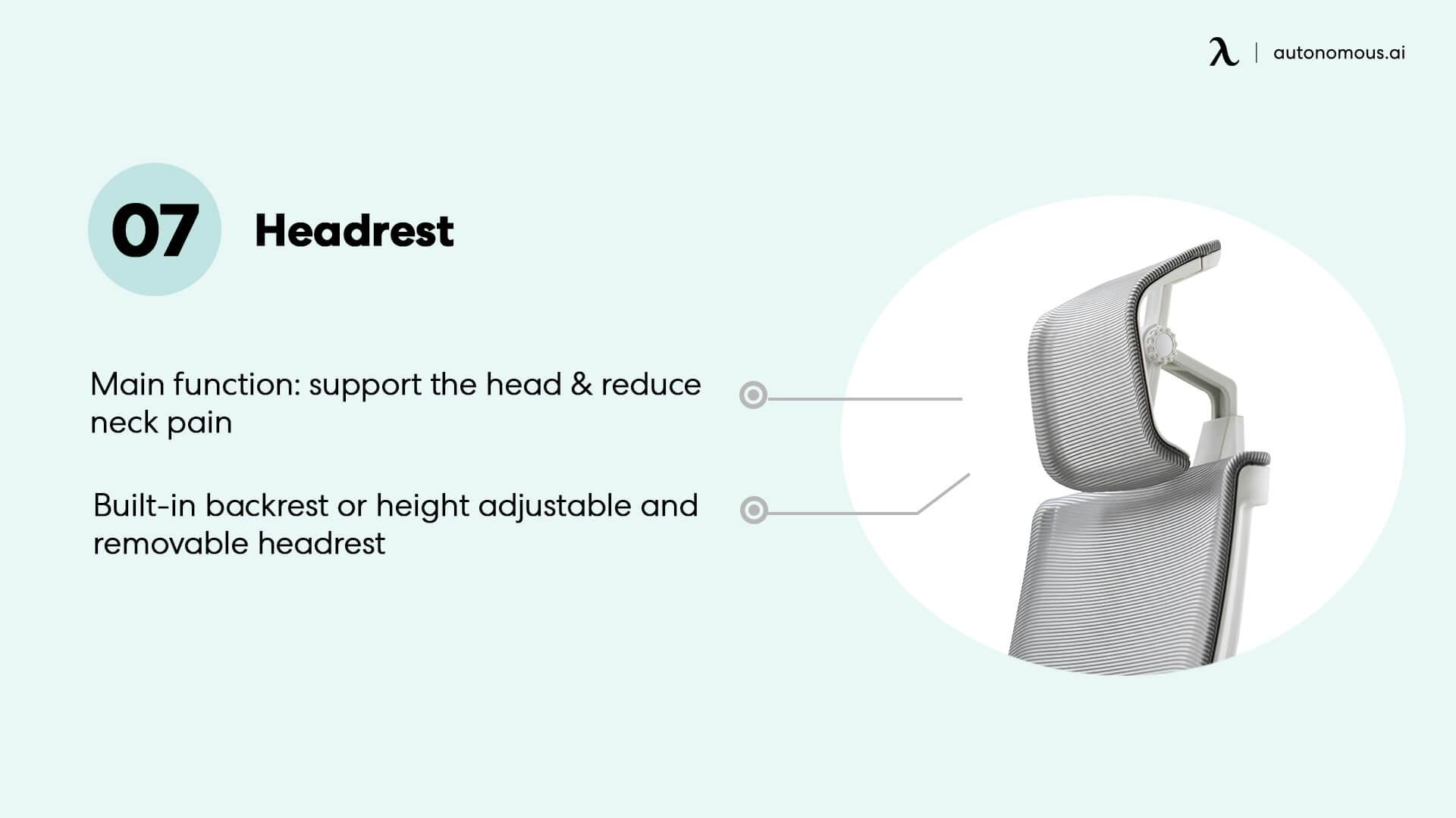 Headrest chair part