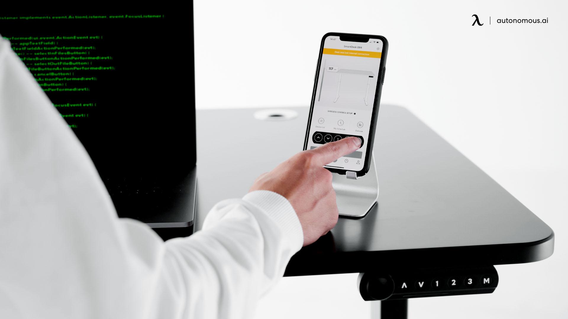 Standing desks with app