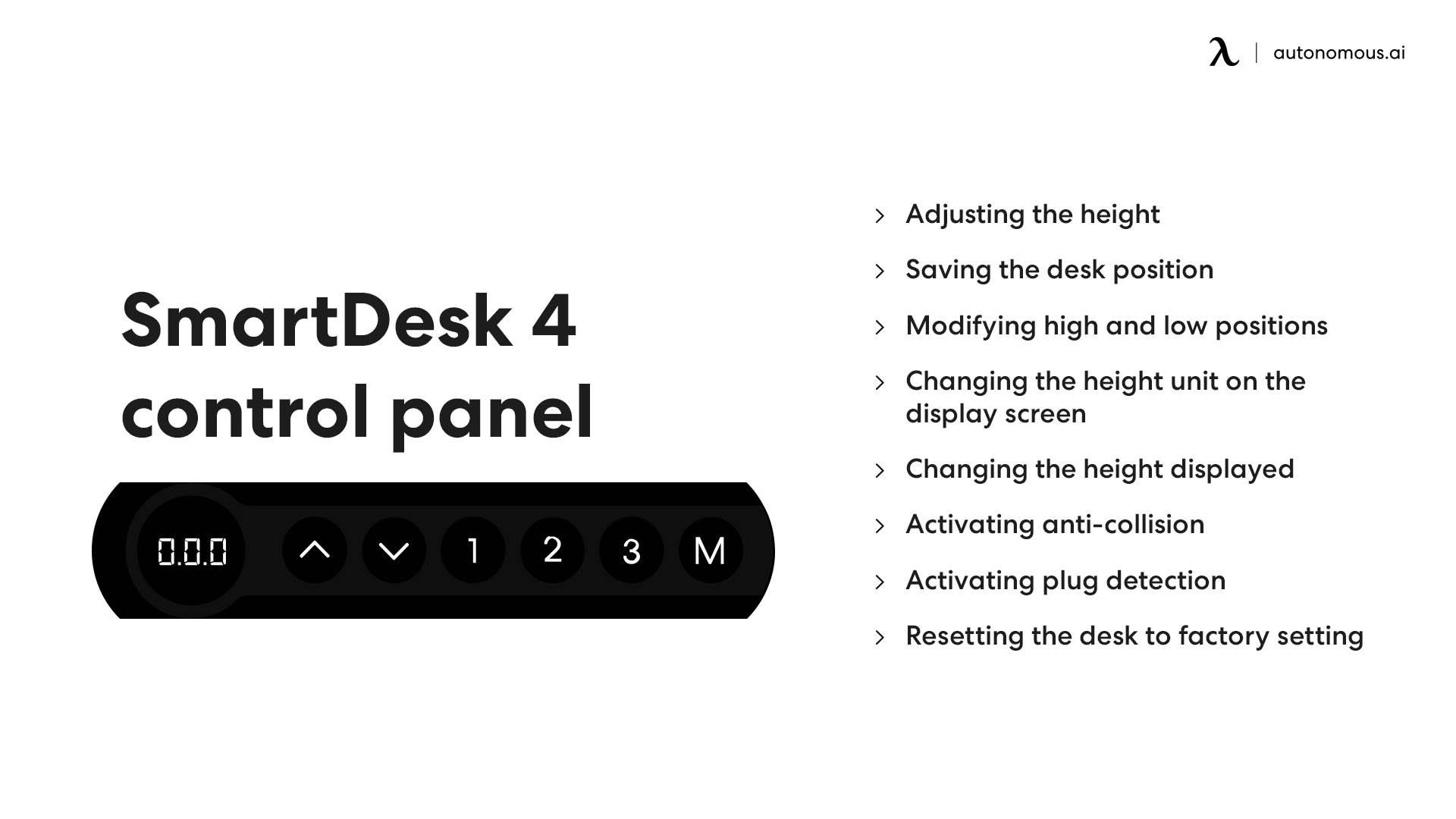 SmartDesk 4 control panel