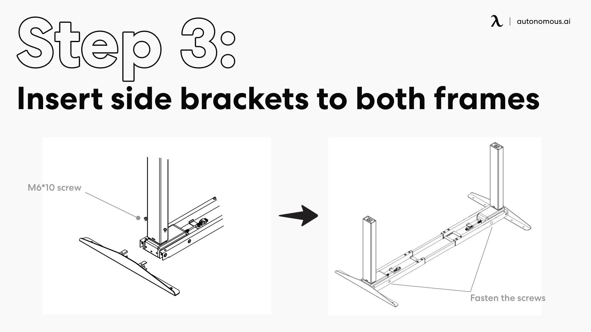 Insert the side bracket