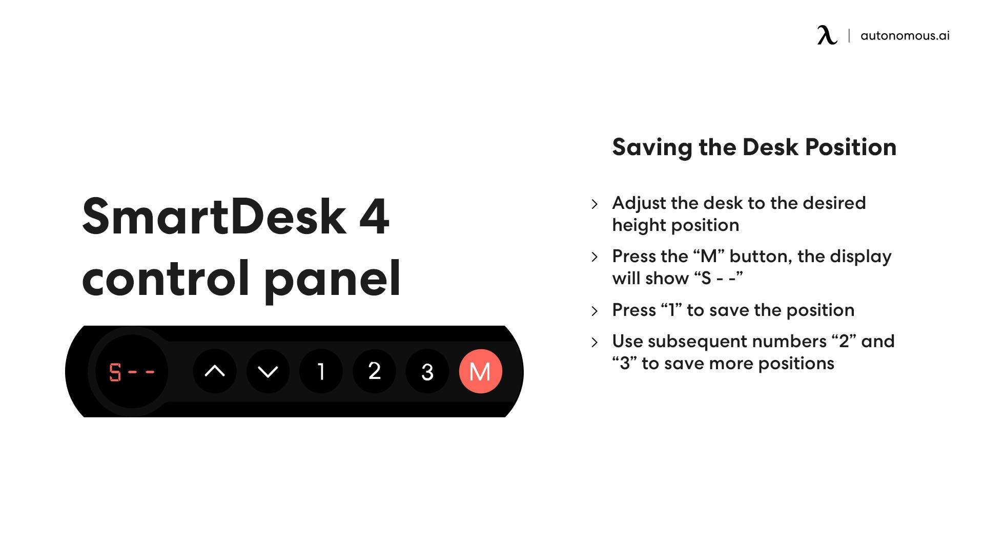 Saving the desk position