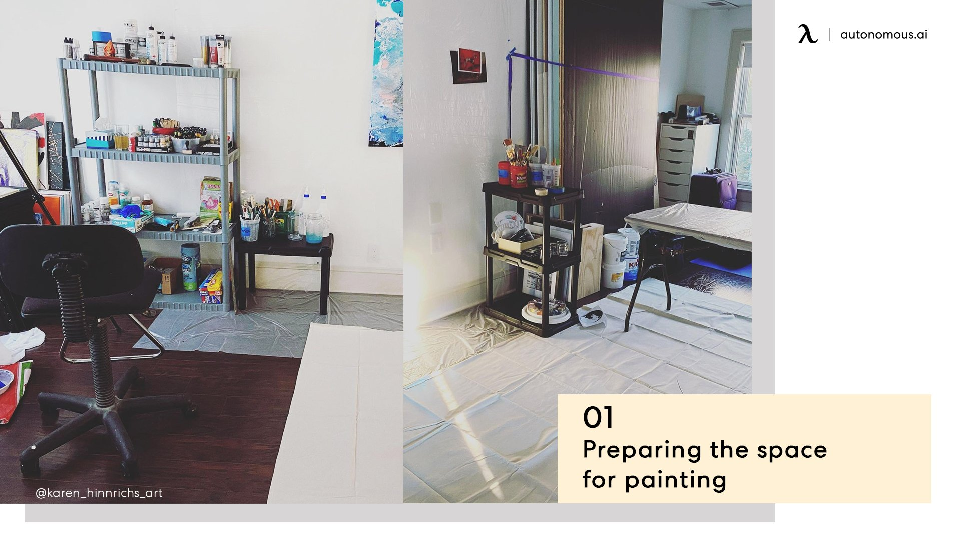 Preparing space for painting