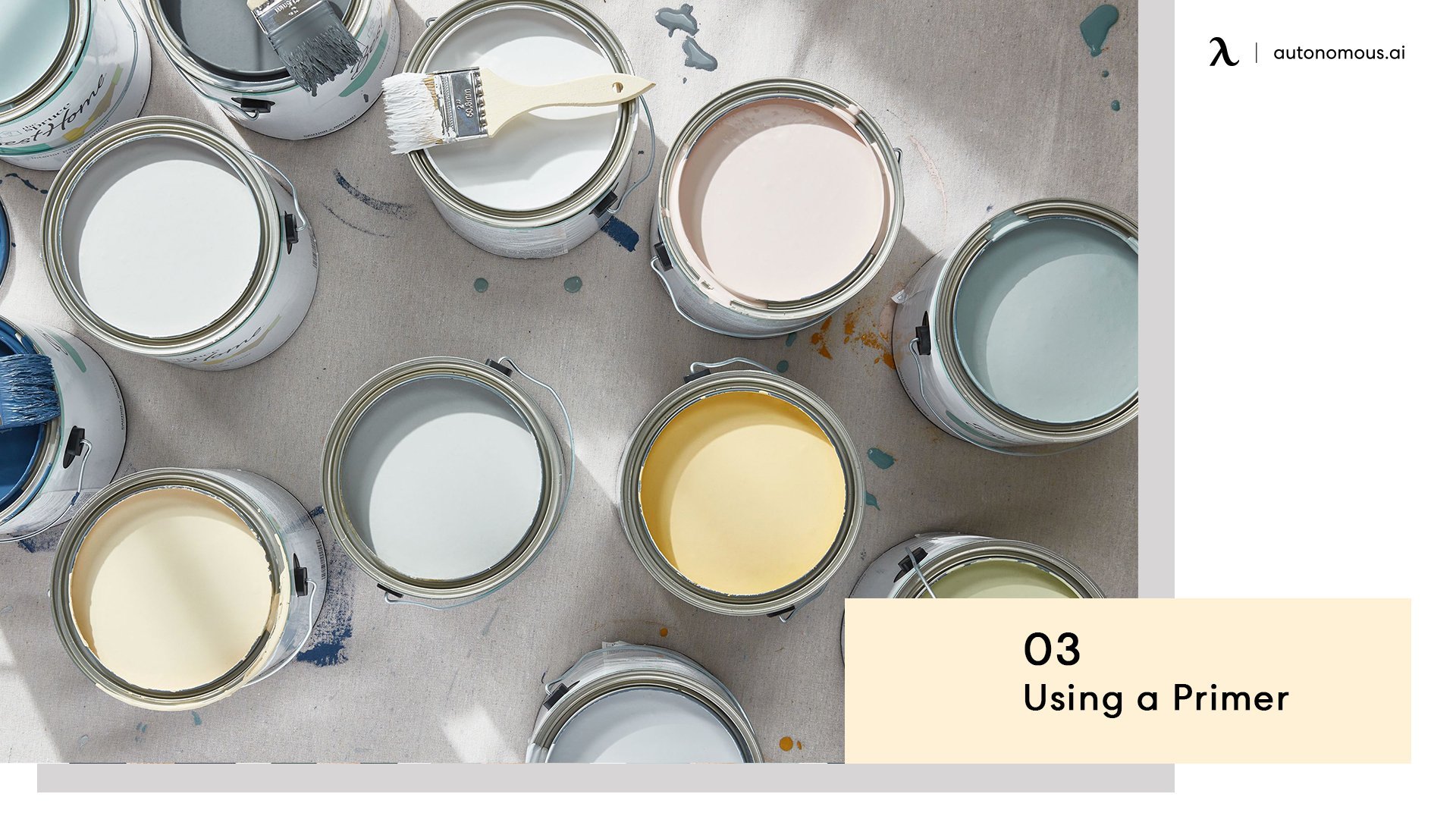 Use a primer for painting filing cabinet