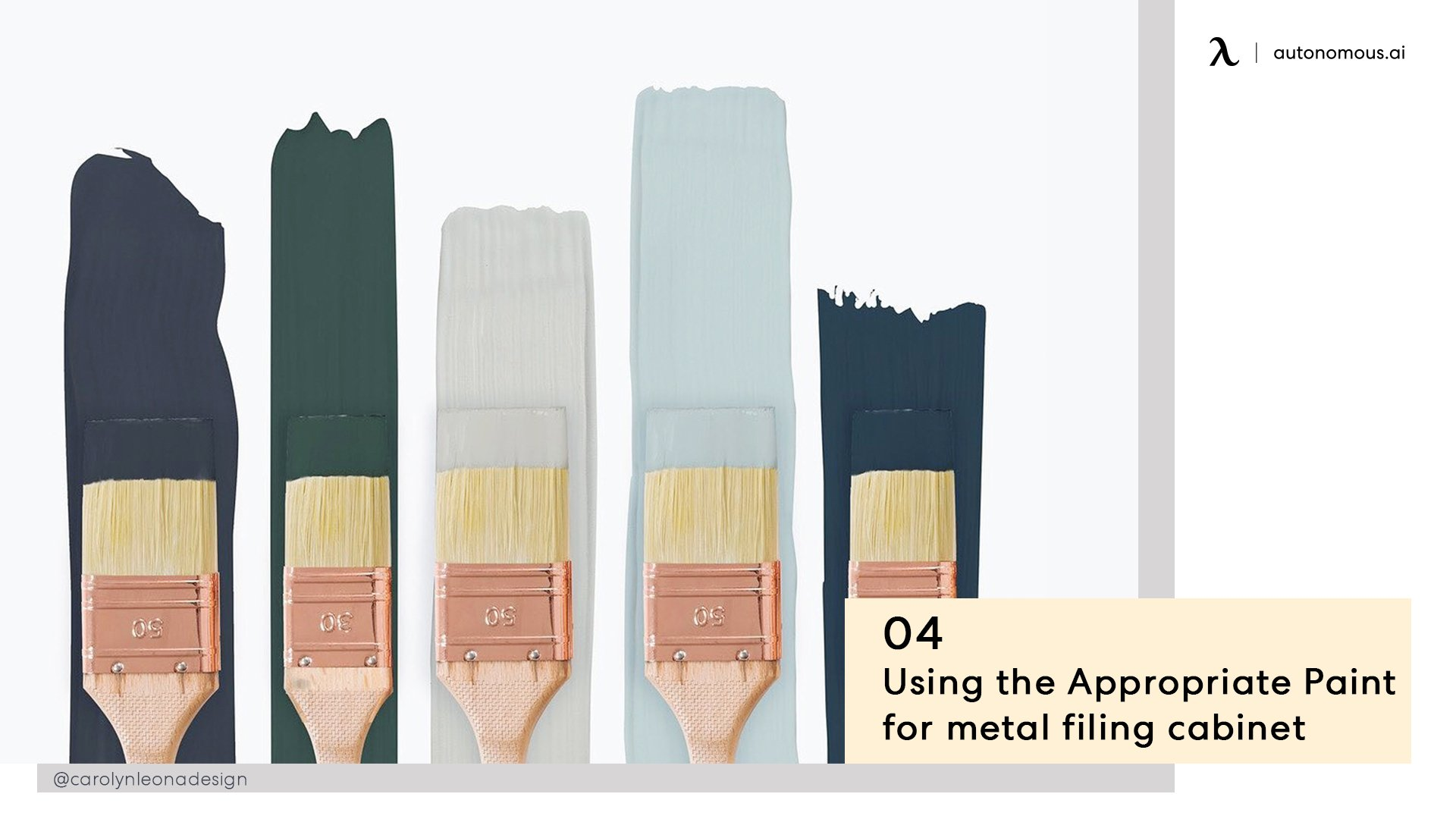 Using appropriate paint for metal file cabinet
