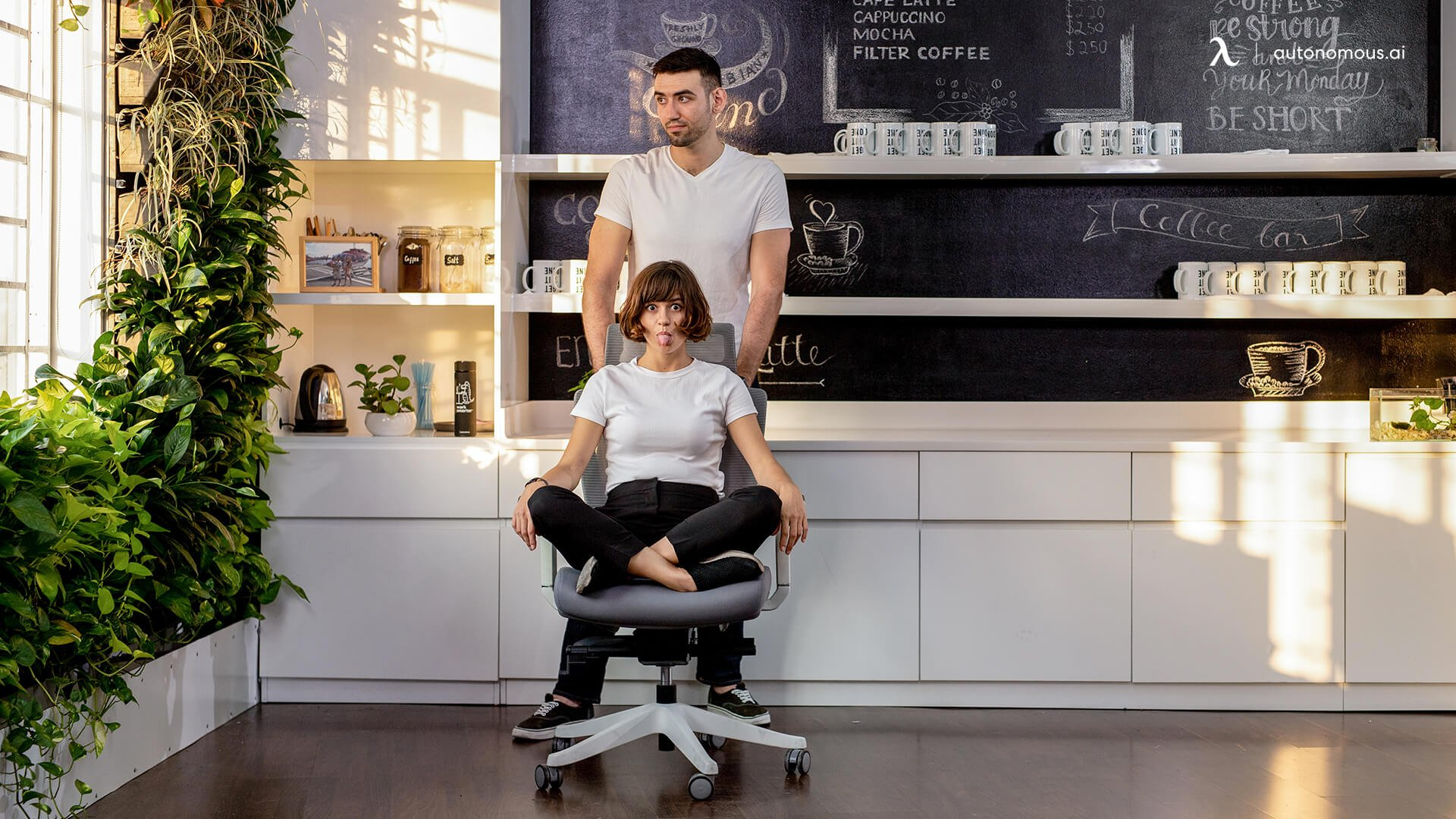 Never push office chair on hardwood floor