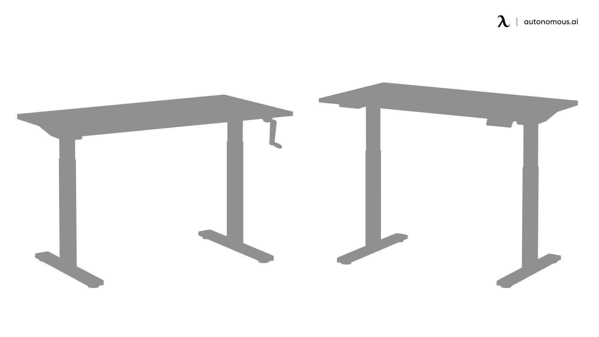 Manual standing desk vs electric standing desk