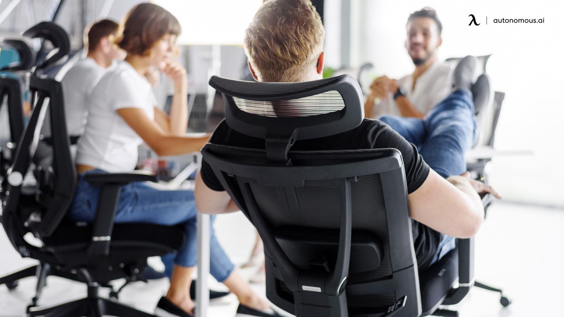 A headrest on Black Friday ergonomic chair