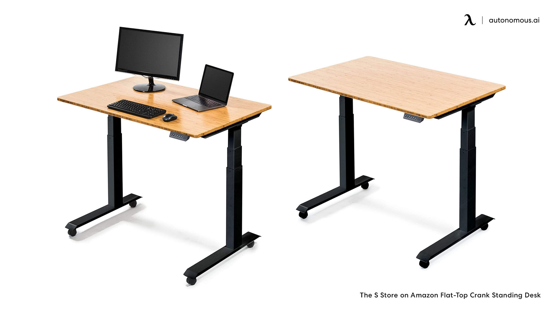 The Flat-Top Crank Standing Desk by the S Store on Amazon