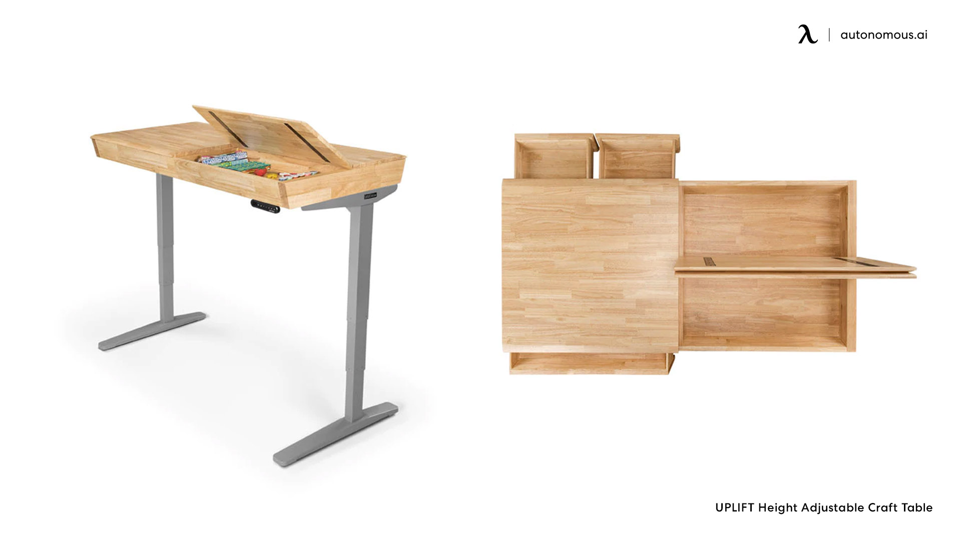 The Tempered Glass Electric Standing Desk from Seville Classics