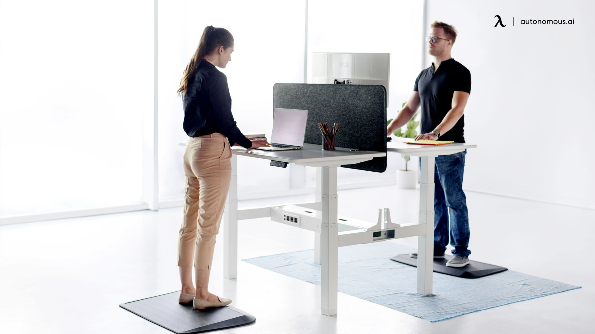 Double Desk for Co-Workers