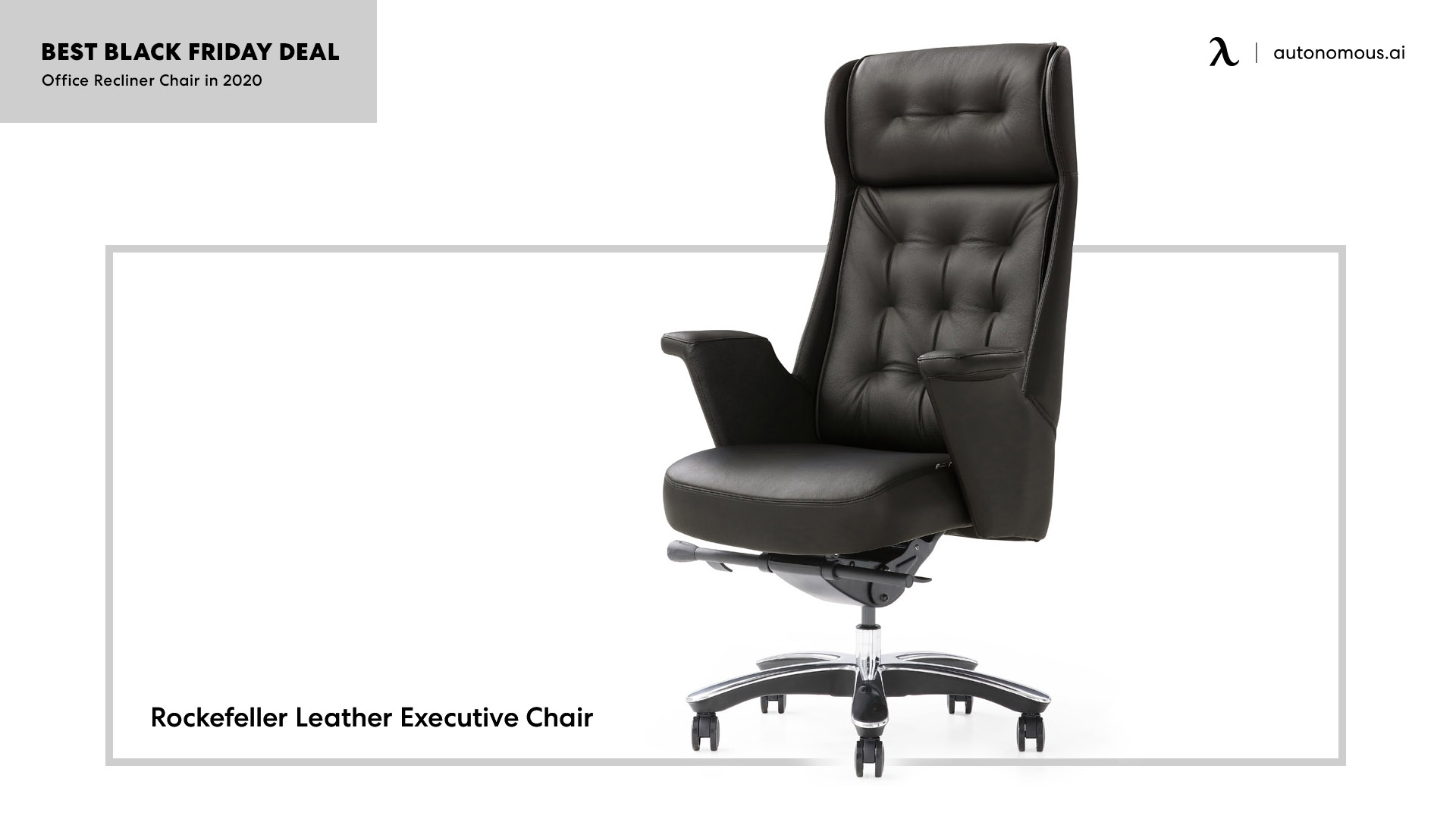 The Rockefeller executive chair from Zuri