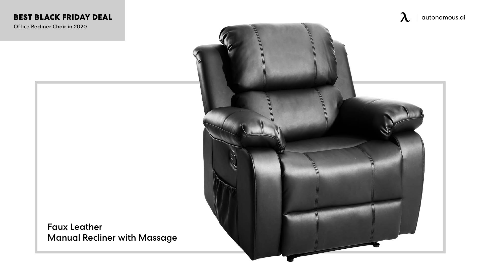 Faux Leather Manual Recliner with Massage