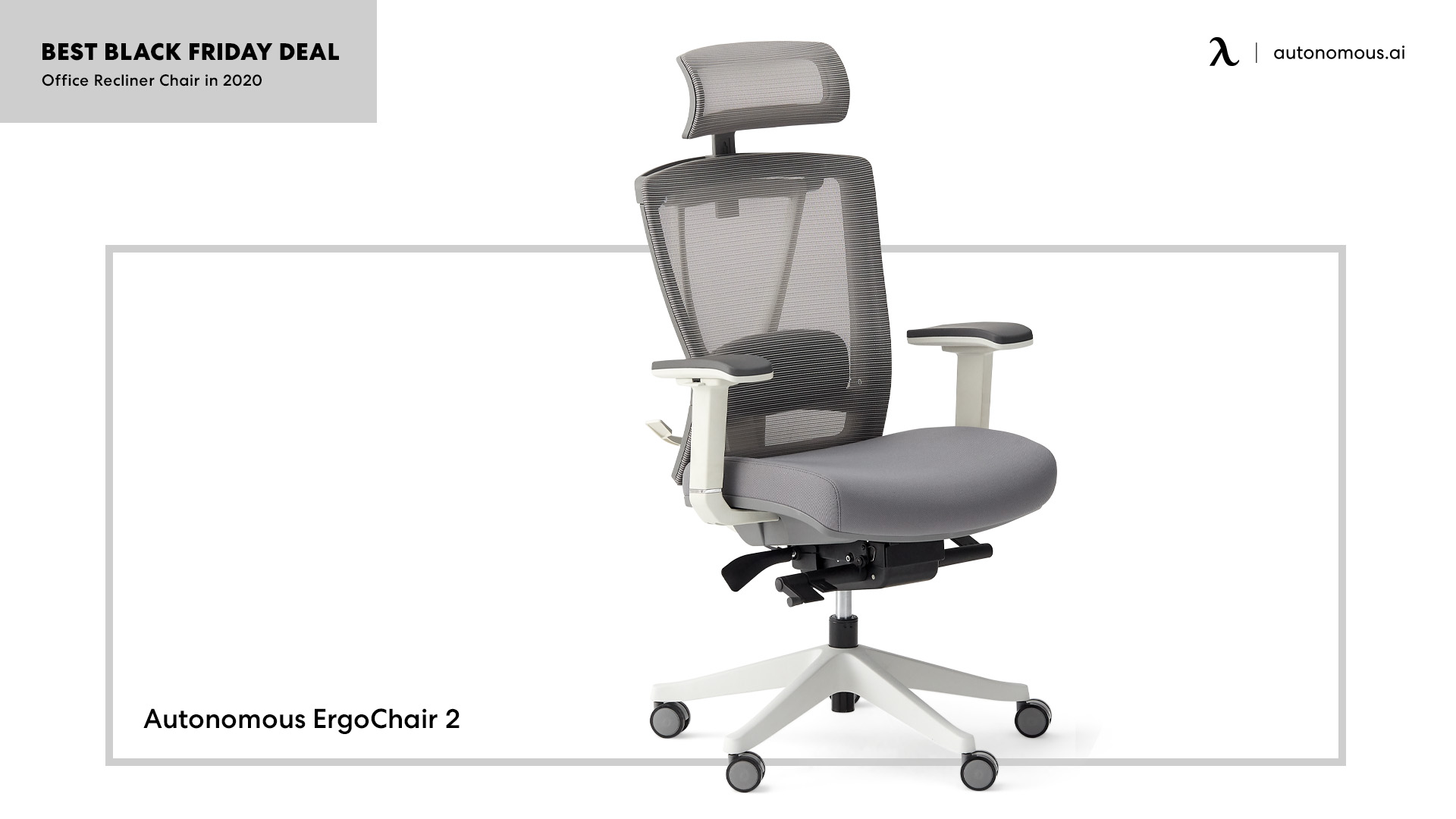 The ErgoChair 2 promoted in black friday from Autonomous