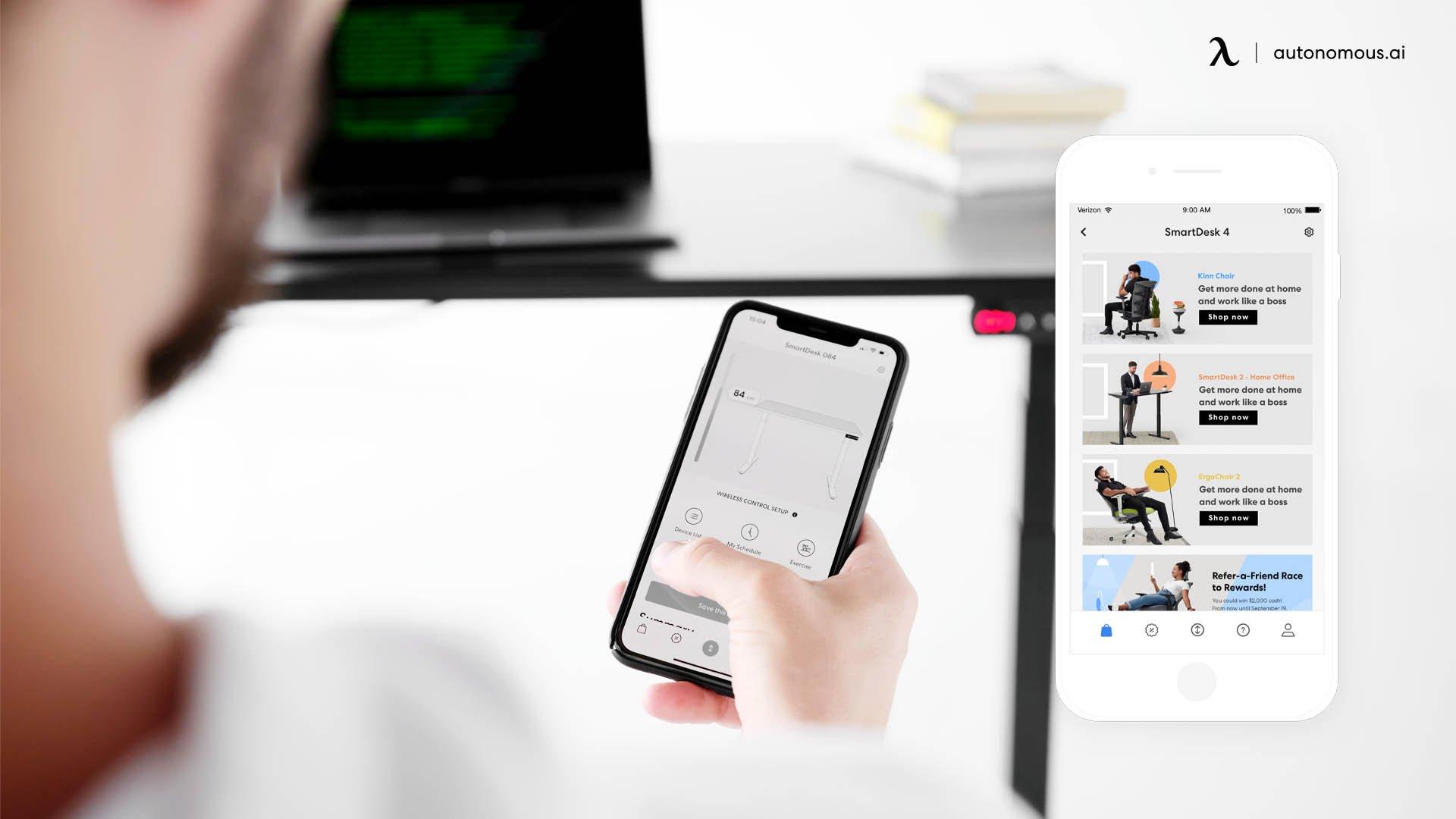 Autonomous app with the SmartDesk 4