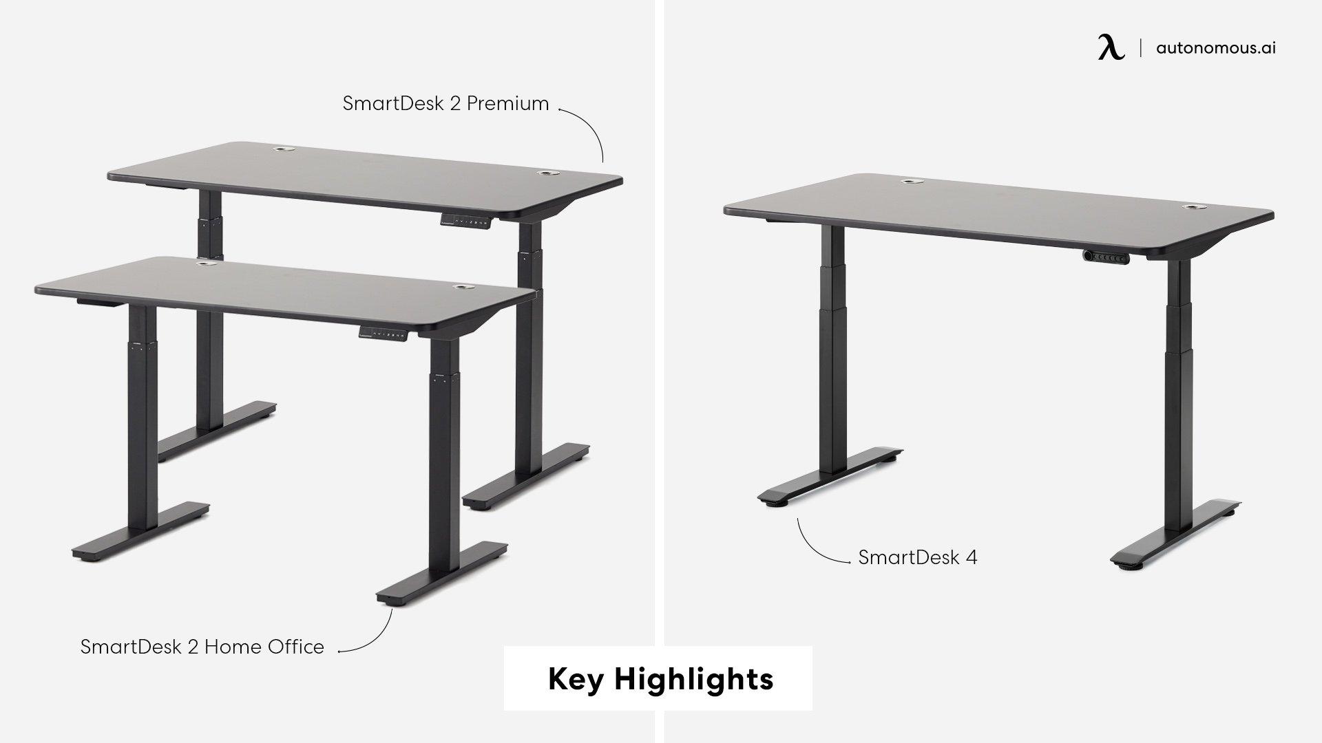 Key Highlights of SmartDesk 2 and  SmartDesk 4