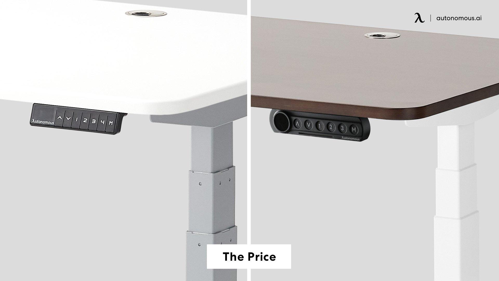 SmartDesk 2 Vs SmartDesk 4: The Price