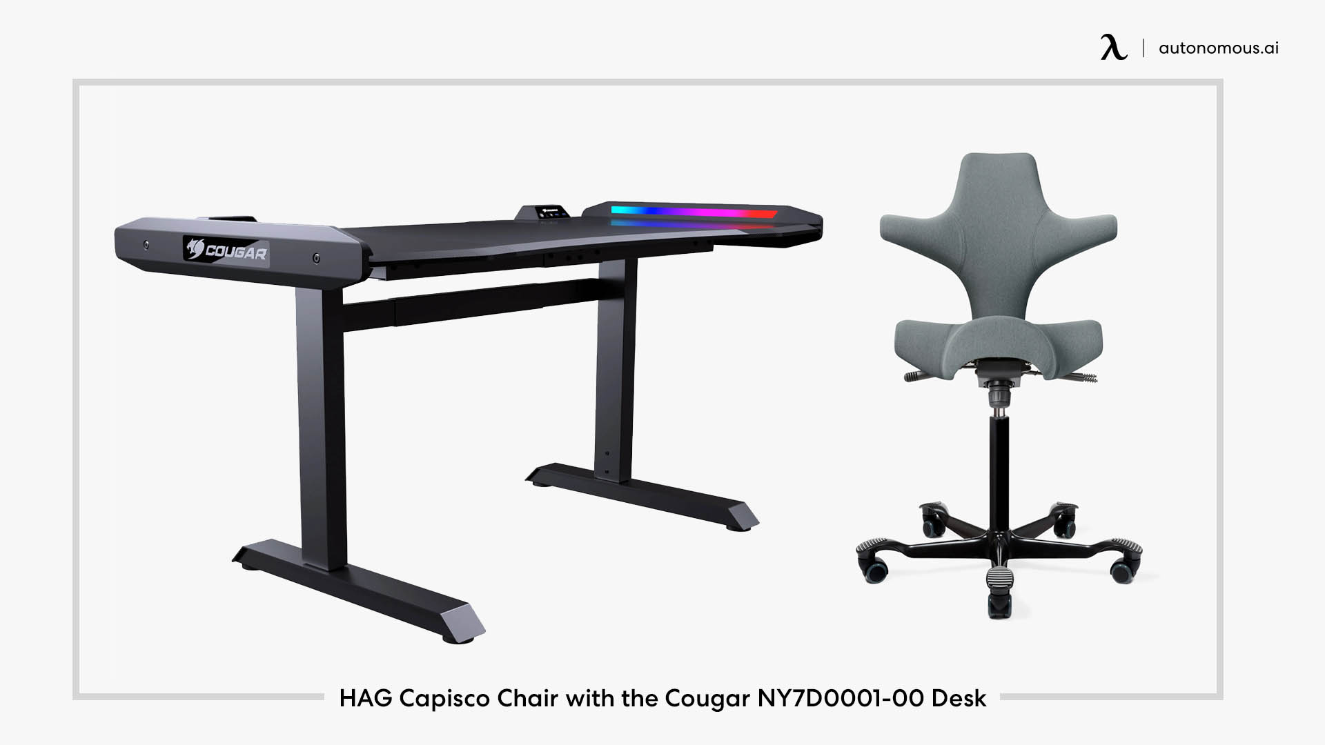 HAG Capisco Chair with the Cougar NY7D0001-00 Desk