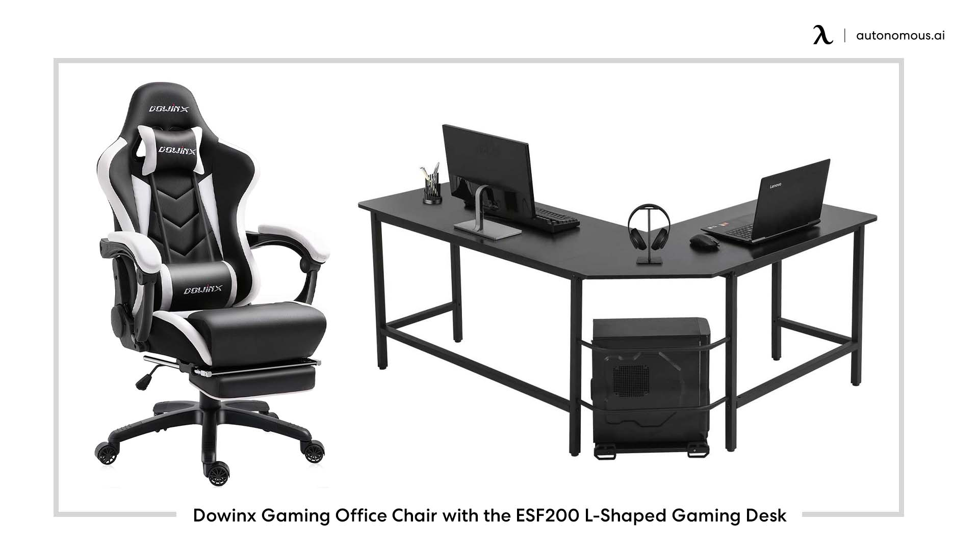 Dowinx Gaming Office Chair with the ESF200 L-Shaped Gaming Desk