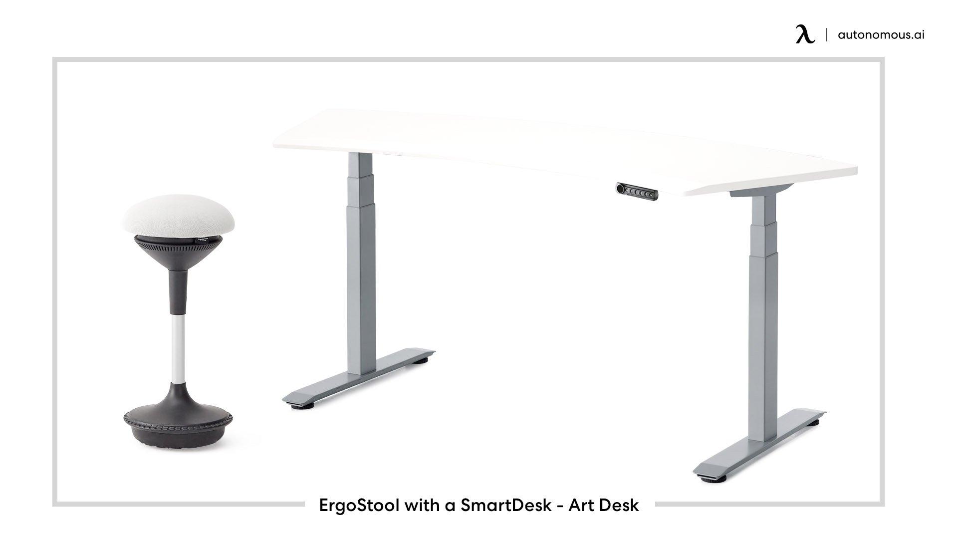 ErgoStool with a SmartDesk 3