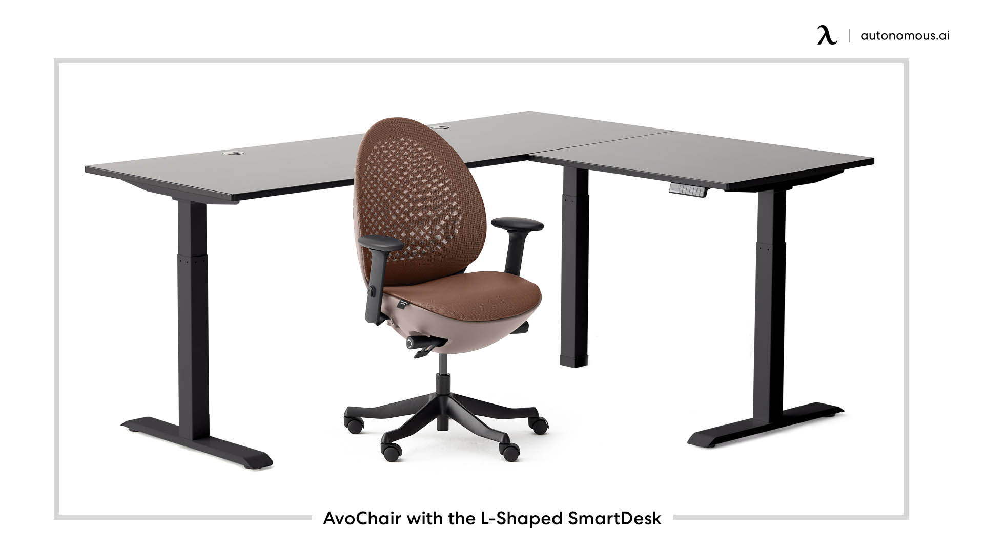 AvoChair with the L-Shaped SmartDesk