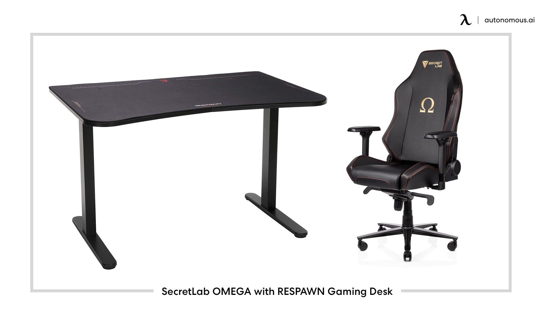 SecretLab OMEGA with RESPAWN Gaming Desk