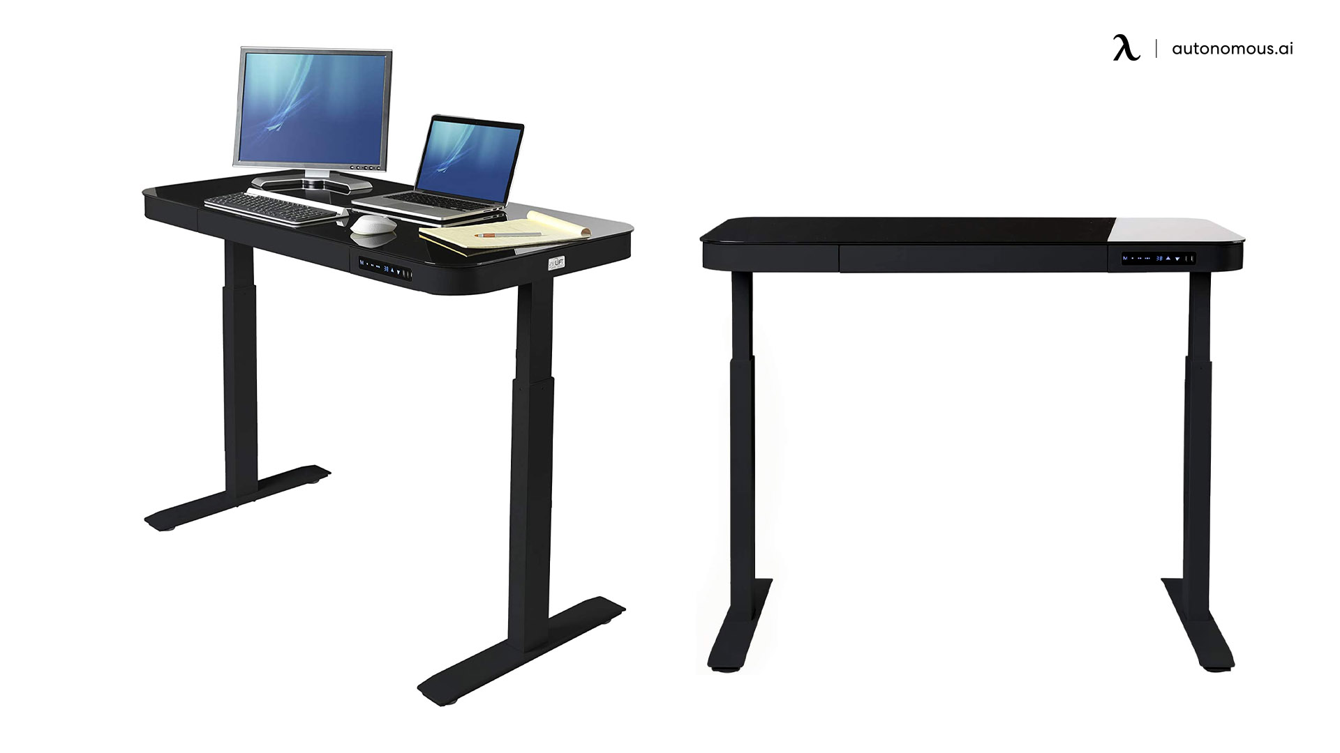 Airlift Glass Standing Desk for Home Office