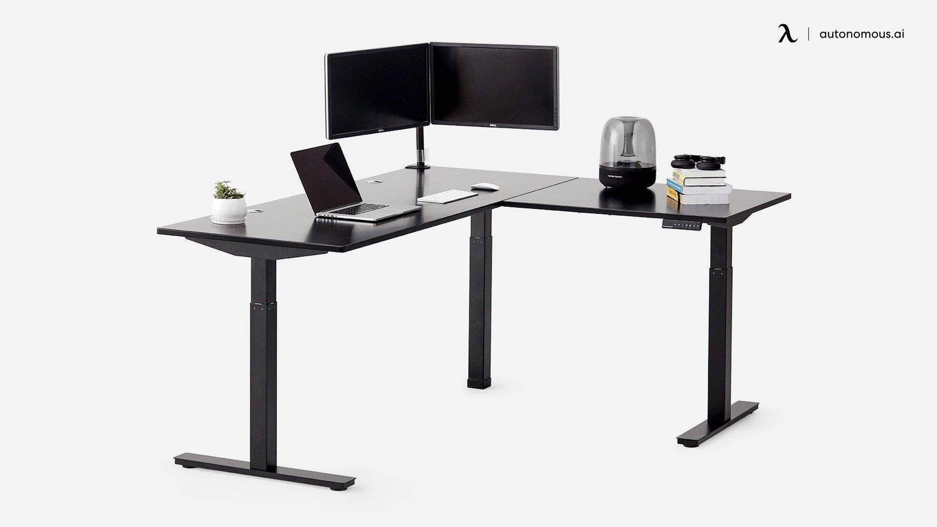Autonomous L-Shaped Home Adjustable Desk