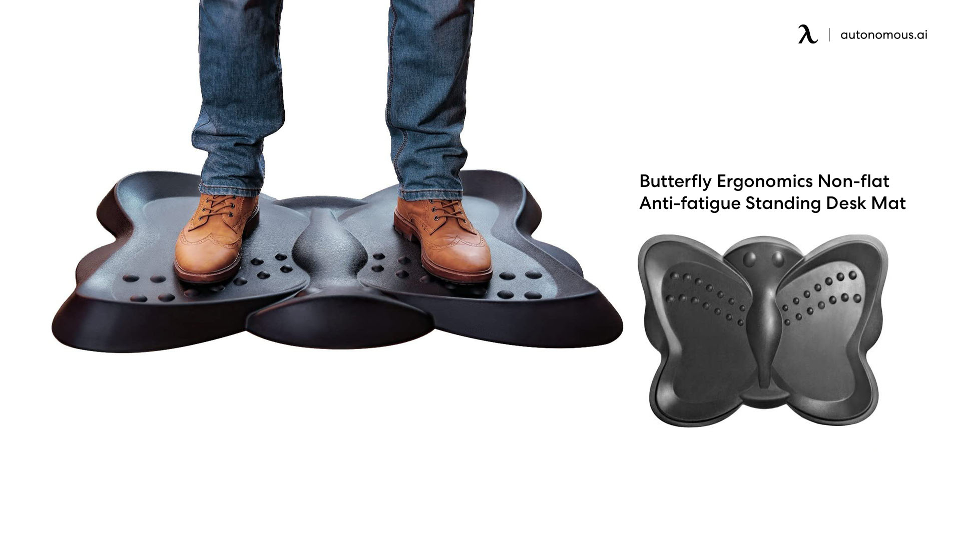 Butterfly Ergonomics Non-flat Anti-fatigue Standing Desk Mat