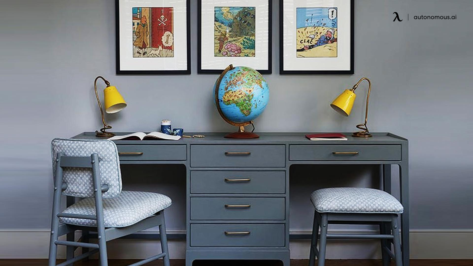 Midcentury Modern Writing Desk from Chelsea Textiles