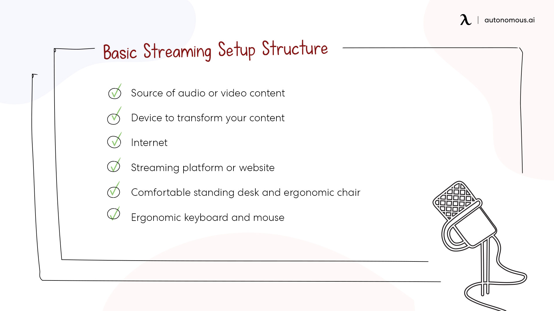 Basic streaming set up structure
