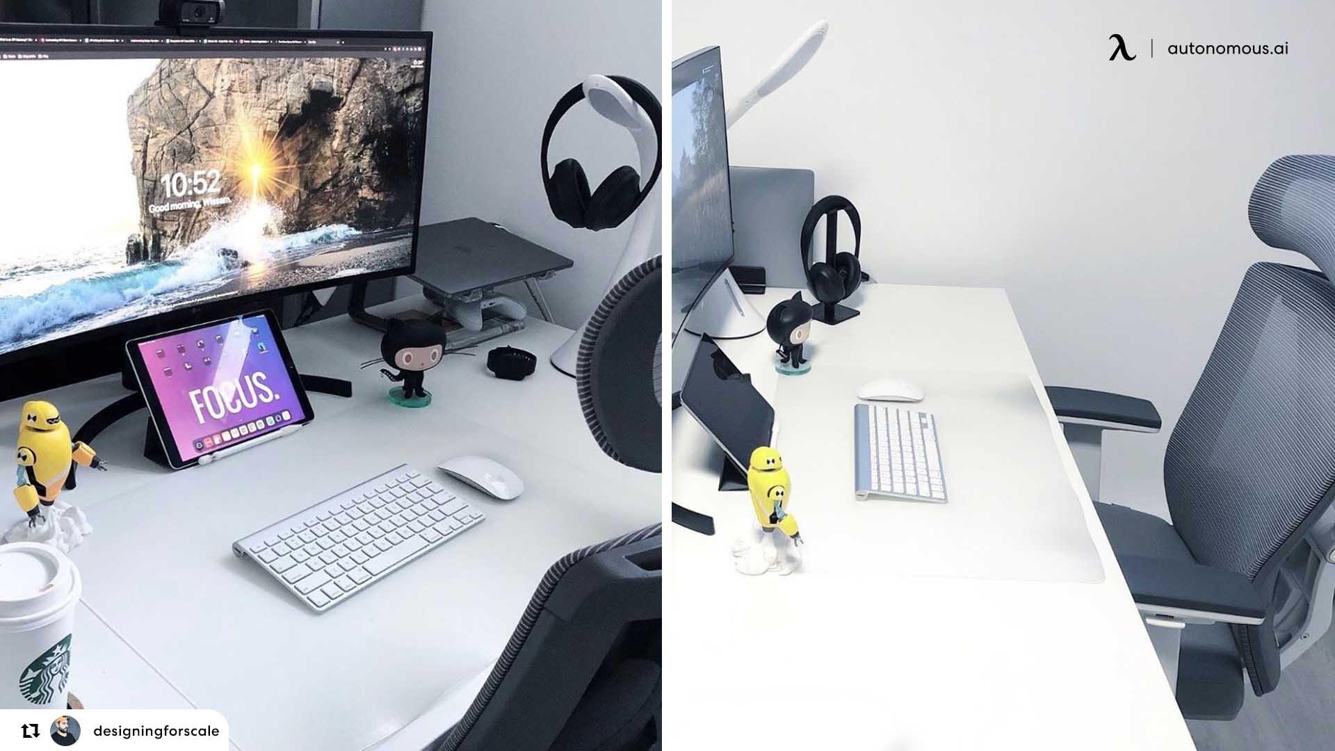 Standing Desk and Ergonomic Chair