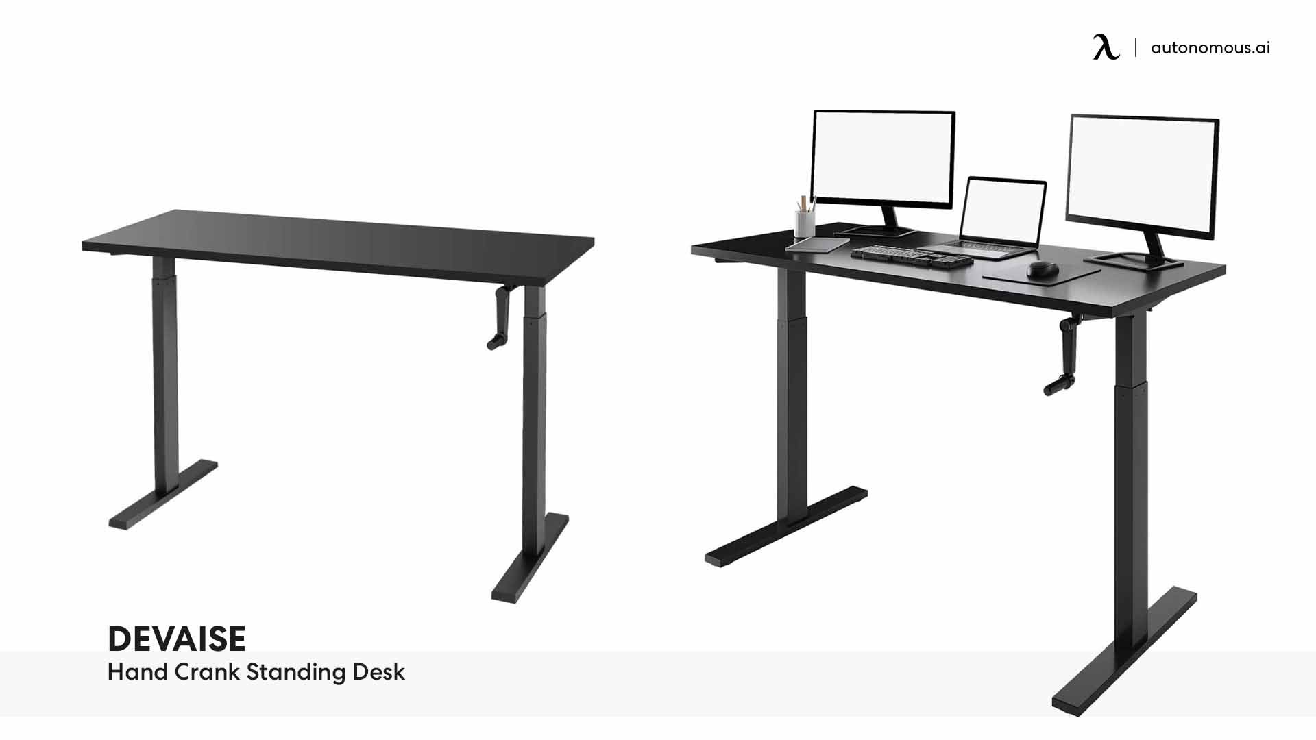 DEVAISE Hand Crank Standing Desk
