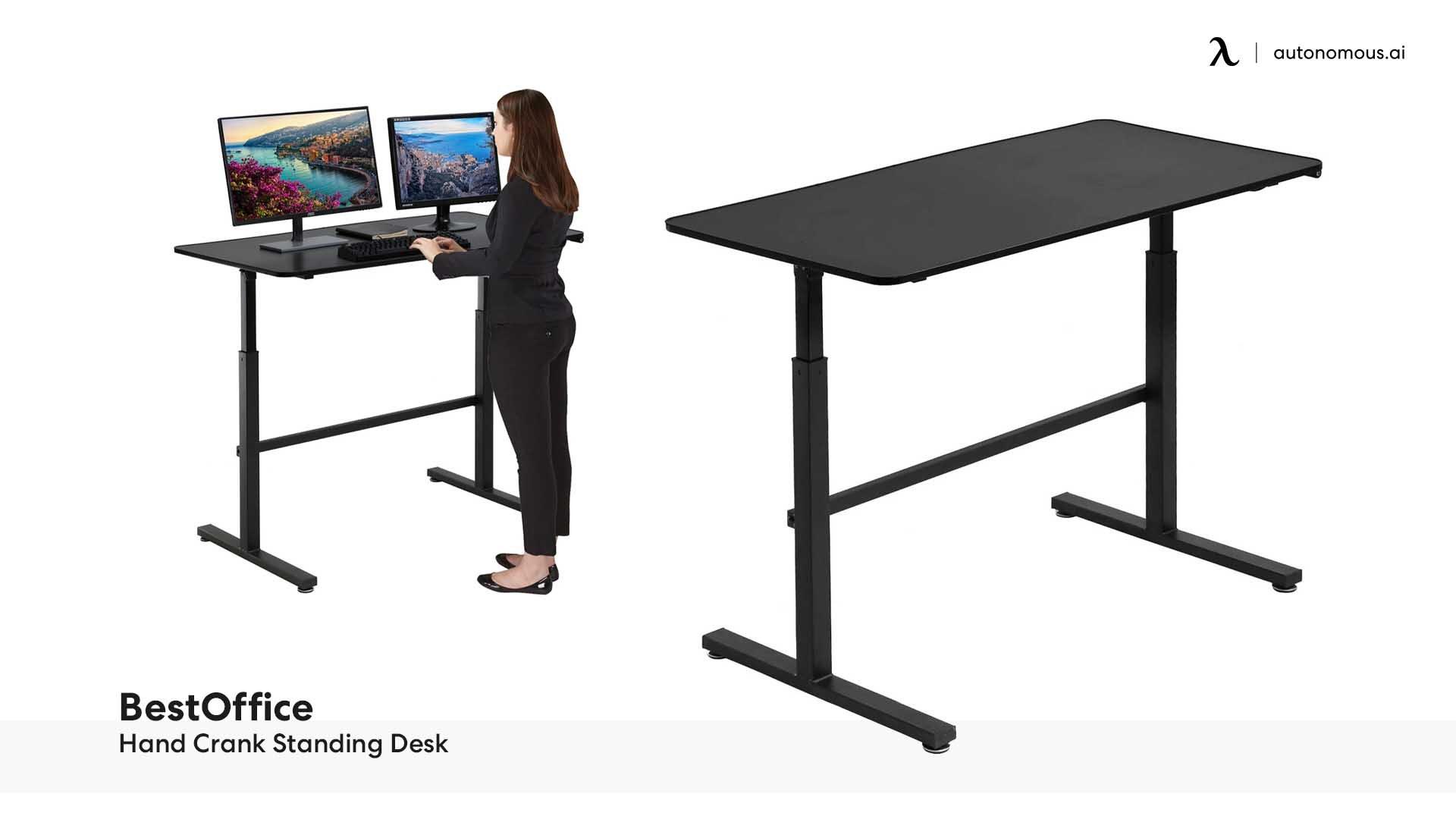 BestOffice Hand Crank Standing Desk